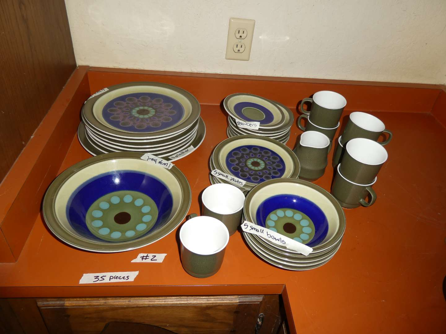 Lot # 2 - Mid Century Dishes And Mugs By Casual Ceram In Stardust Design (main image)
