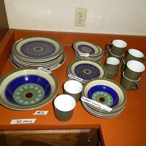 Lot # 2 - Mid Century Dishes And Mugs By Casual Ceram In Stardust Design