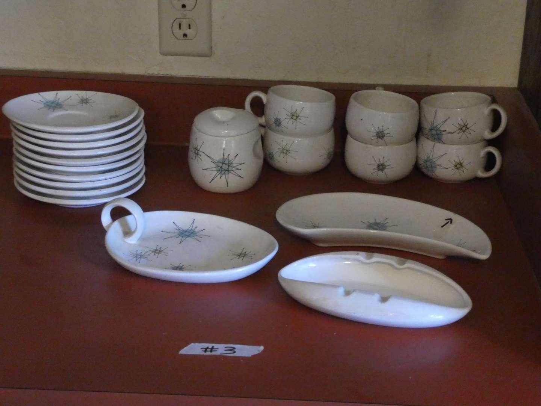 Lot # 3 - Atomic Mid Century Franciscan 'Starburts' Dish Set (main image)