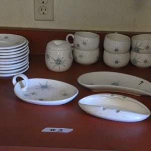 Lot # 3 - Atomic Mid Century Franciscan 'Starburts' Dish Set