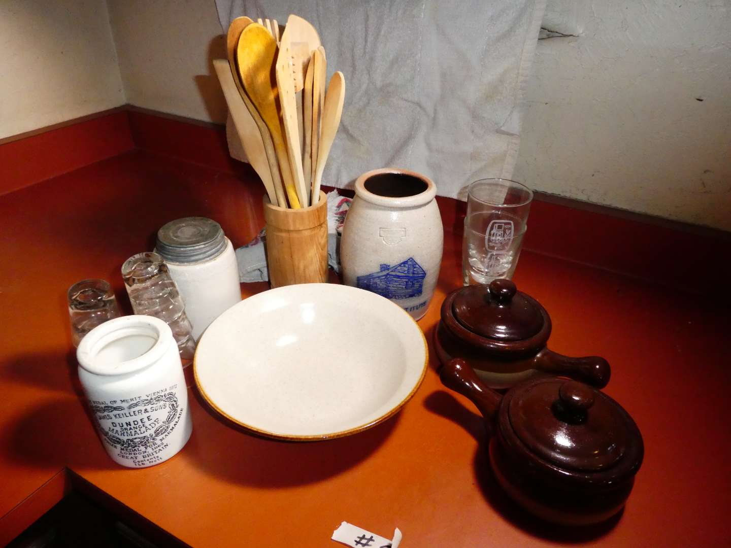 Lot # 5 - Misc, Stoneware And Drinking Glasses (main image)