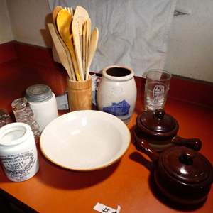 Lot # 5 - Misc, Stoneware And Drinking Glasses