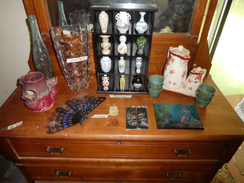 Lot # 35 - Miniature Japanese vases,  (main image)