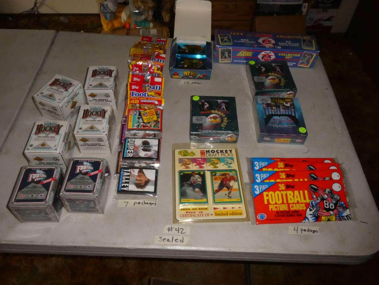 Lot # 42 - 1990's Sports Memorabilia Cards- Sealed (main image)