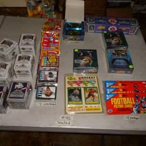 Lot # 42 - 1990's Sports Memorabilia Cards- Sealed