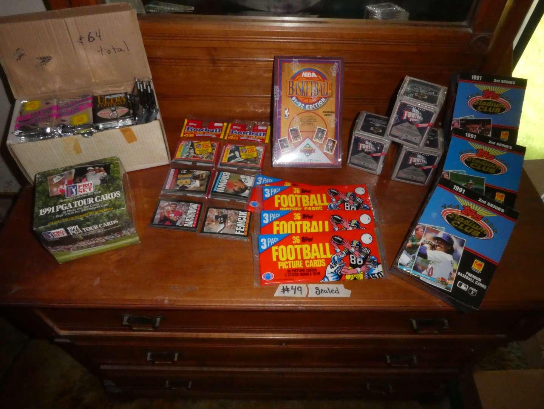 Lot # 49 - Sports Memorabilia Cards- 1990's (main image)