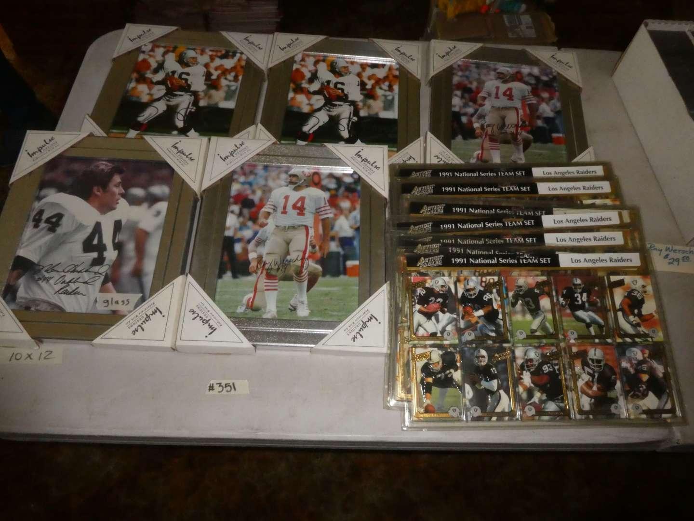Lot # 351- Early 90's Football Memorabilia  (main image)
