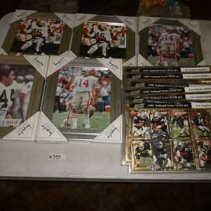 Lot # 351- Early 90's Football Memorabilia
