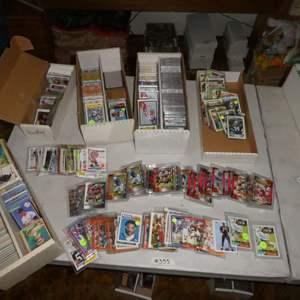 Lot # 355- Baseball, Football, And Hockey Cards-1990's