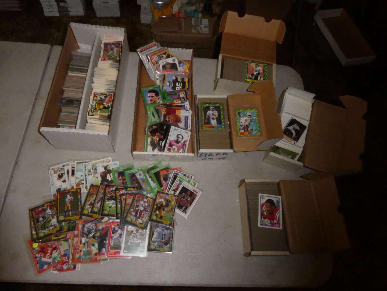 Lot # 356- Sports Memorabilia Cards- 1980's (main image)