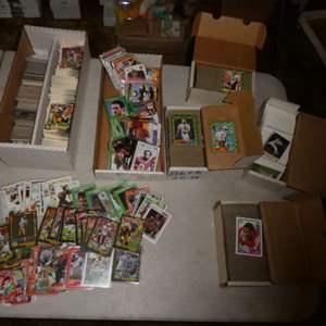 Lot # 356- Sports Memorabilia Cards- 1980's