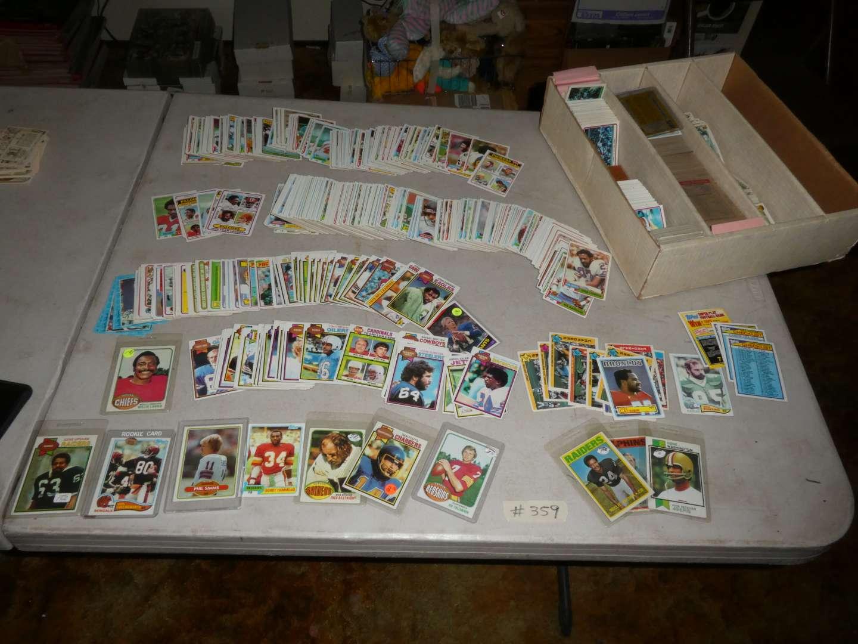 Lot # 359- Vintage Sports Memorabilia Cards-70's & 80's (main image)
