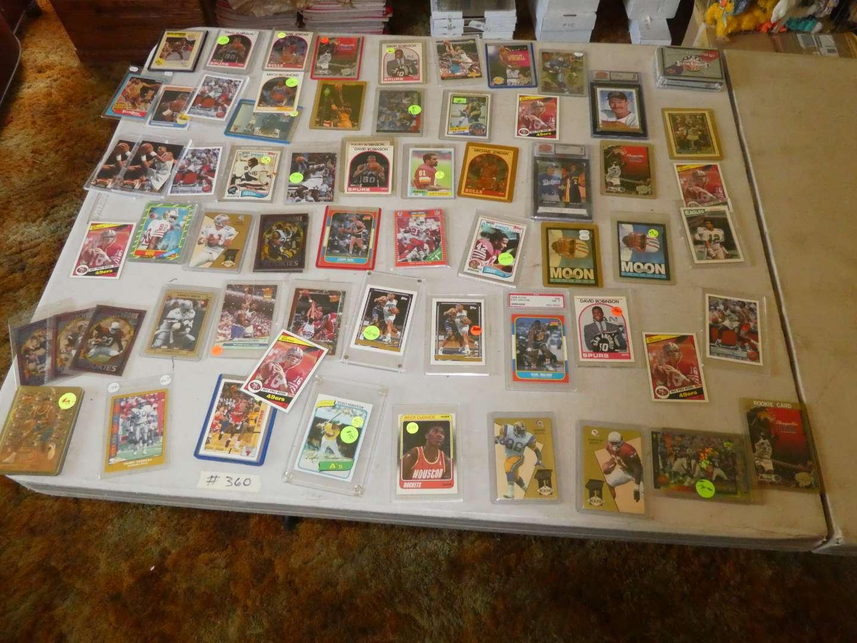 Lot # 360- Sports Memorabilia Cards (main image)