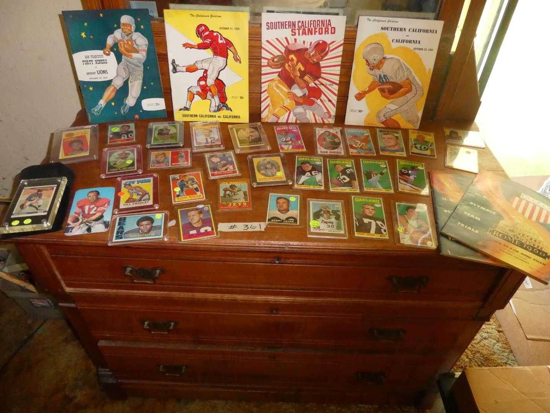 Lot # 361- Vintage Sports Memorabilia Cards  (main image)