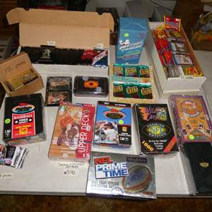Lot # 370- 1980's & 1990's Sports Cards