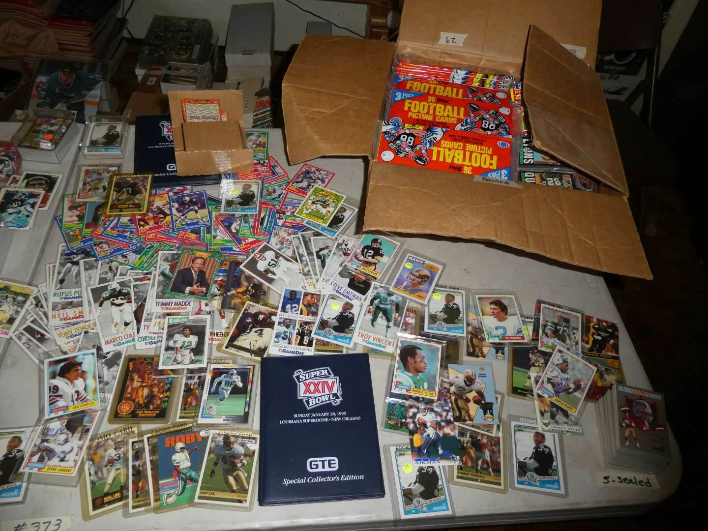 Lot # 373- Football Cards from the 1980's to 1990's  (main image)