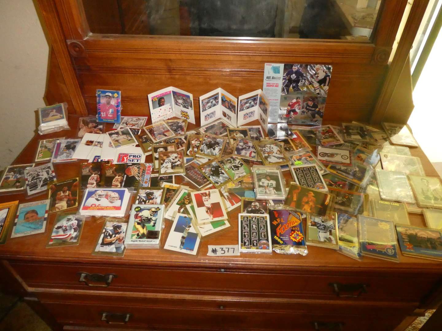 Lot # 377- Large Variety Of Sports & Misc. Cards  (main image)