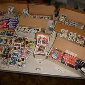 Lot # 378- 1980's Football & 1990's Hockey Memorabilia Cards