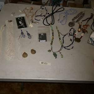 Lot # 382- Costume Jewelry