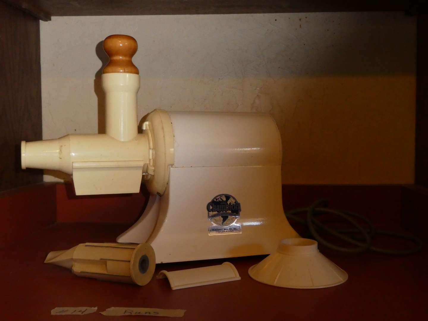 Lot # 14 - Champion Juicer With Attachments  (main image)
