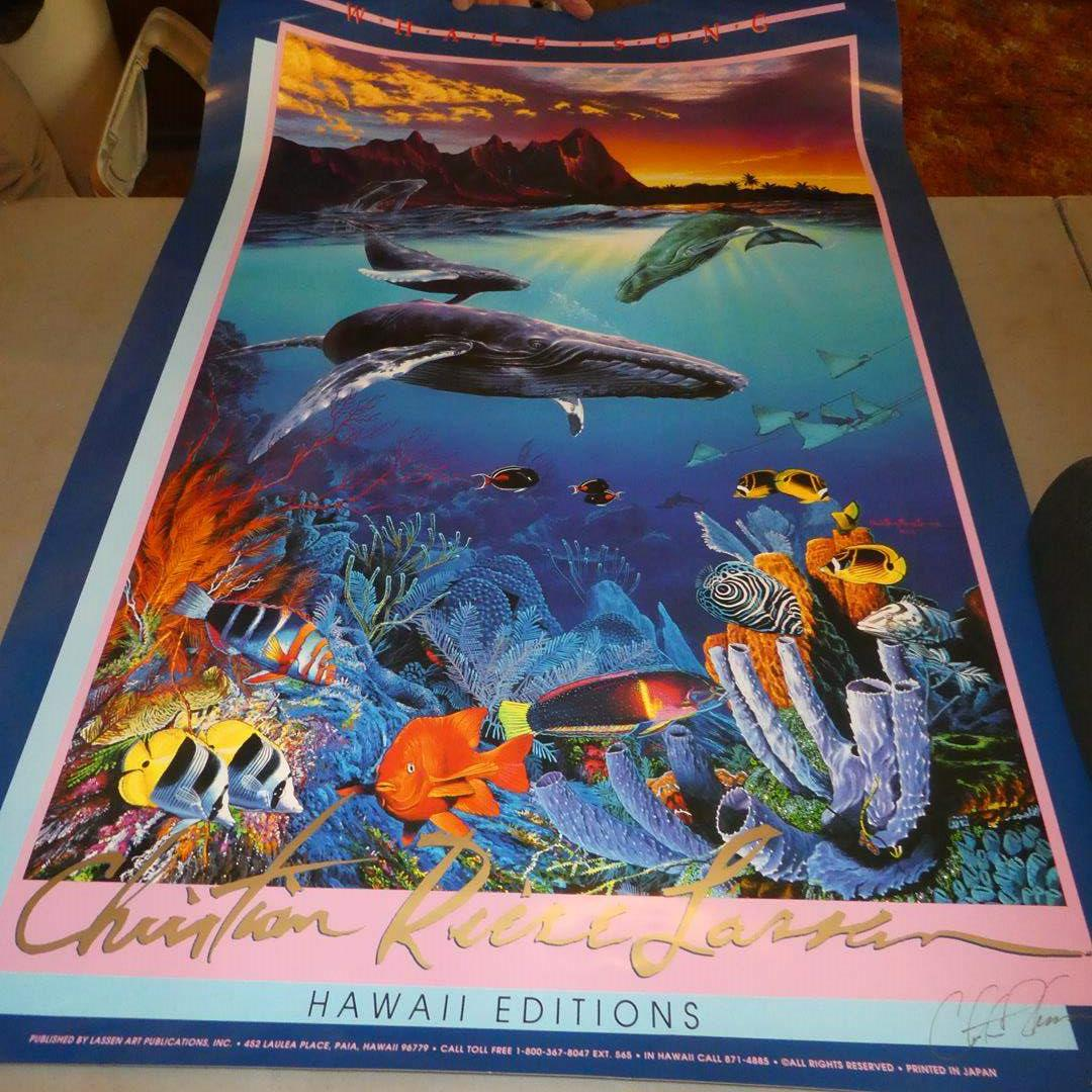 Lot # 78 - Signed Marine Poster & Two Marine Prints by Christian Reese Lassen (main image)