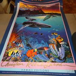 Lot # 78 - Signed Marine Poster & Two Marine Prints by Christian Reese Lassen