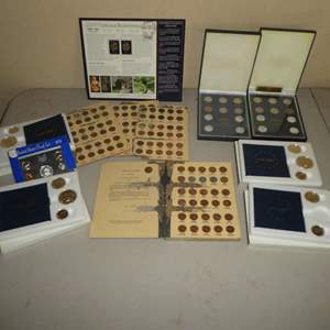 Lot # 236 - Proof Sets, Collection of Pennies and State Quarters