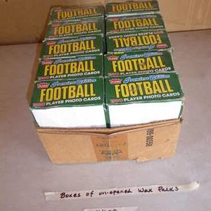 Lot # 408 - 10 Boxes 1990 Fleer Football Unopened Wax Packs