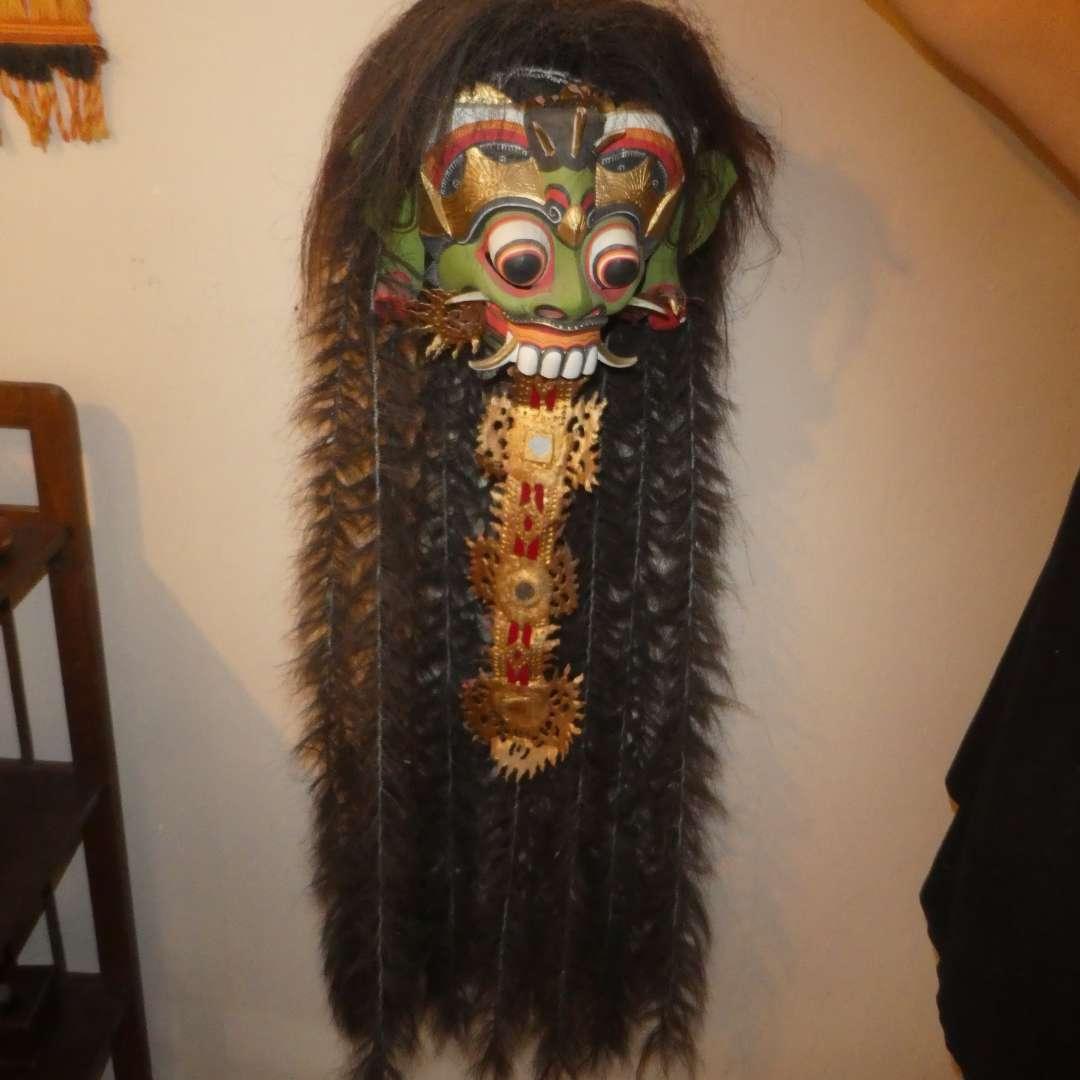 Lot # 151 - Fantastic Tribal Mask/Head with Hair (main image)