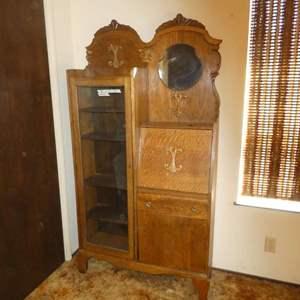 Lot # 152 -Antique/Vintage Side By Side Secretary Desk/ Bookcase