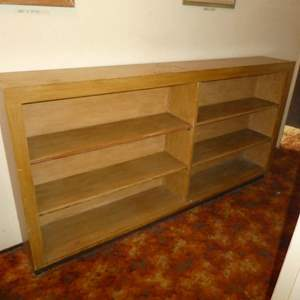 Lot # 153 - Short Wide Bookcase (About Counter Height)