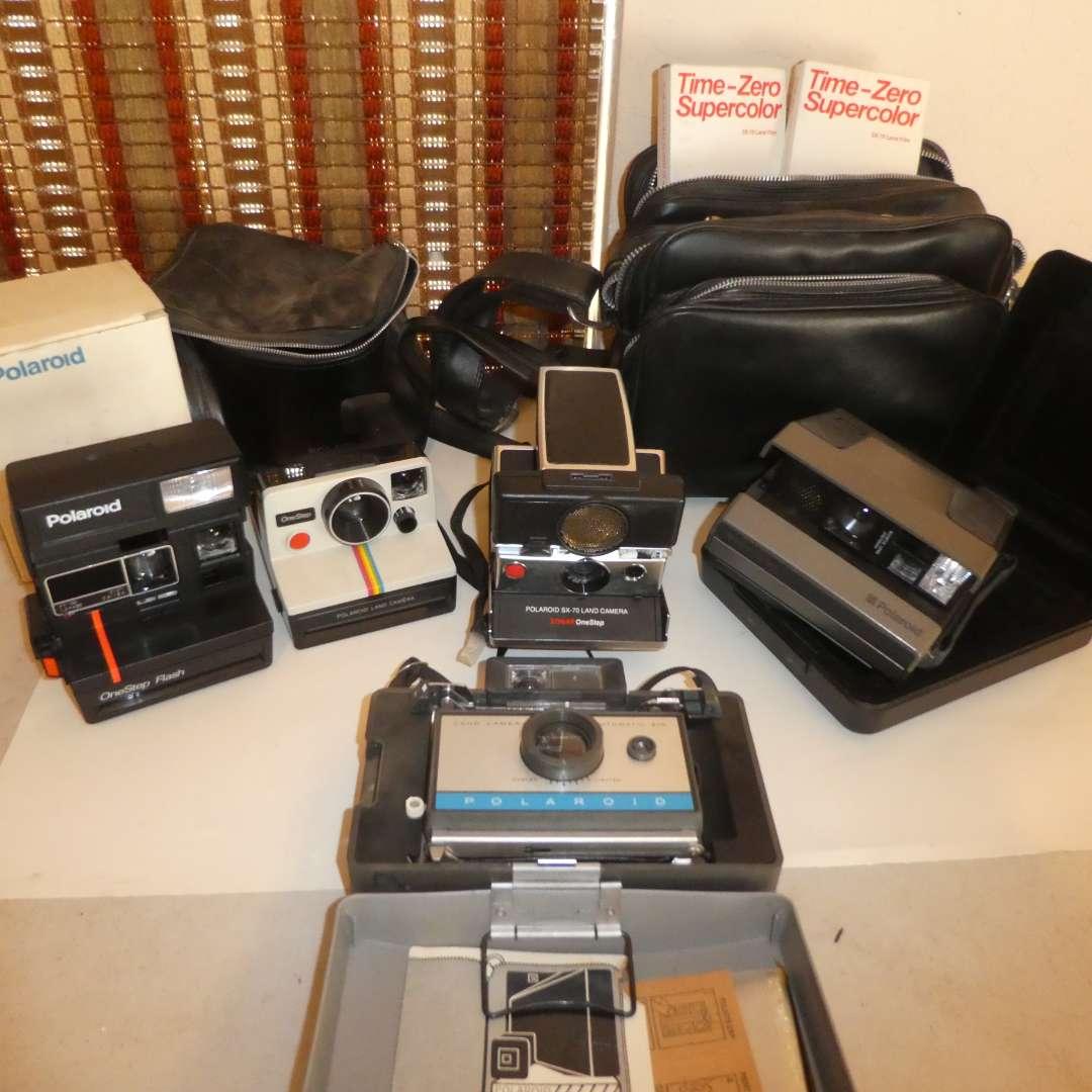 Lot # 174 - Vintage Polaroid Camera Lot -5 Cameras  (main image)