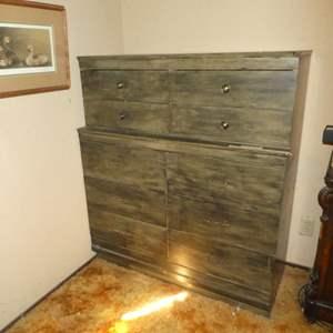 Lot # 192 - Vintage Large Tall Boy Style Dresser