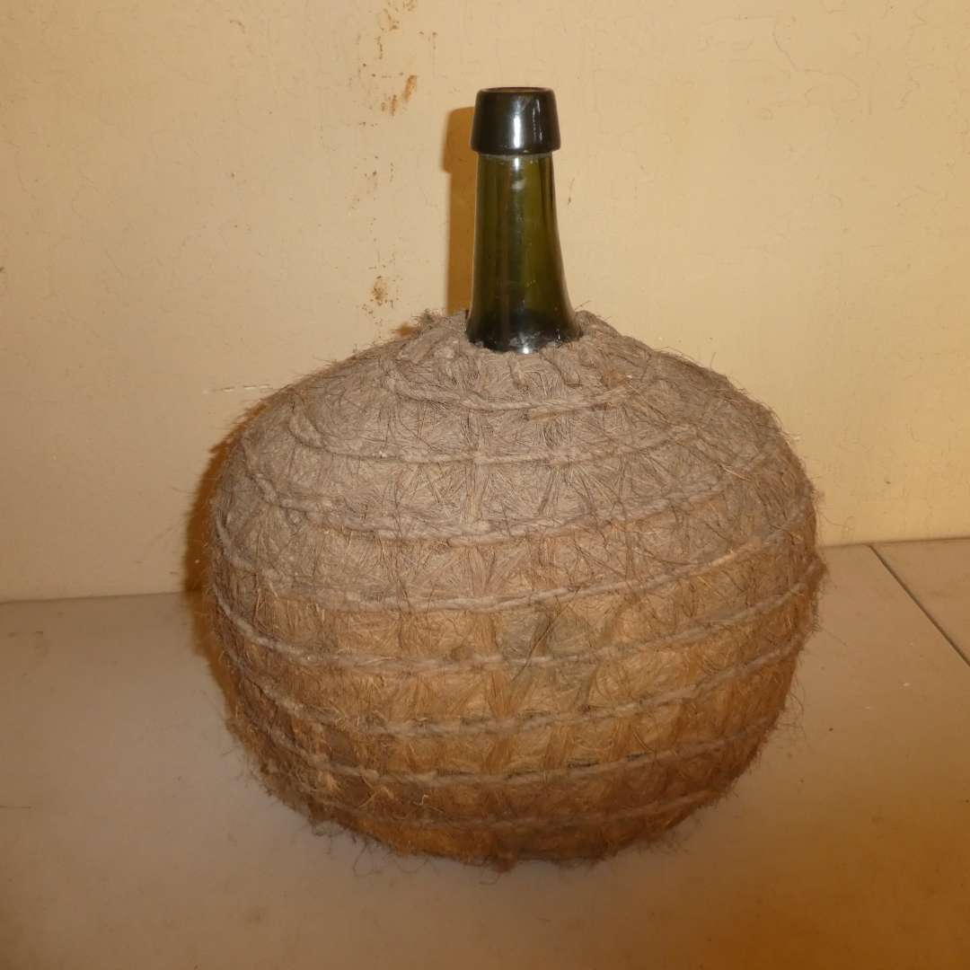 Lot # 190 - Antique Grass Wrapped Demijohn (main image)