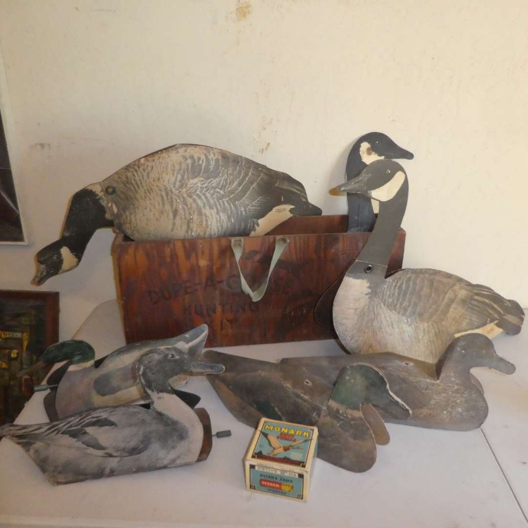 Lot # 181 - Vintage Paper Duck & Goose Decoys (See All Photos) (main image)