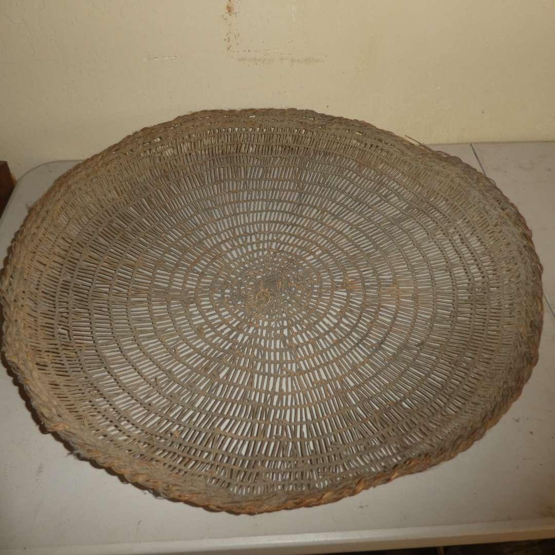 Lot # 195 - Local Northern California Native American Sifter Basket  (main image)