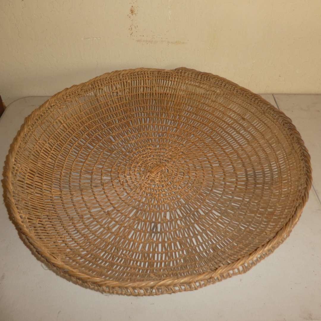 Lot # 196 -Local Northern California Native American Sifter Basket  (main image)