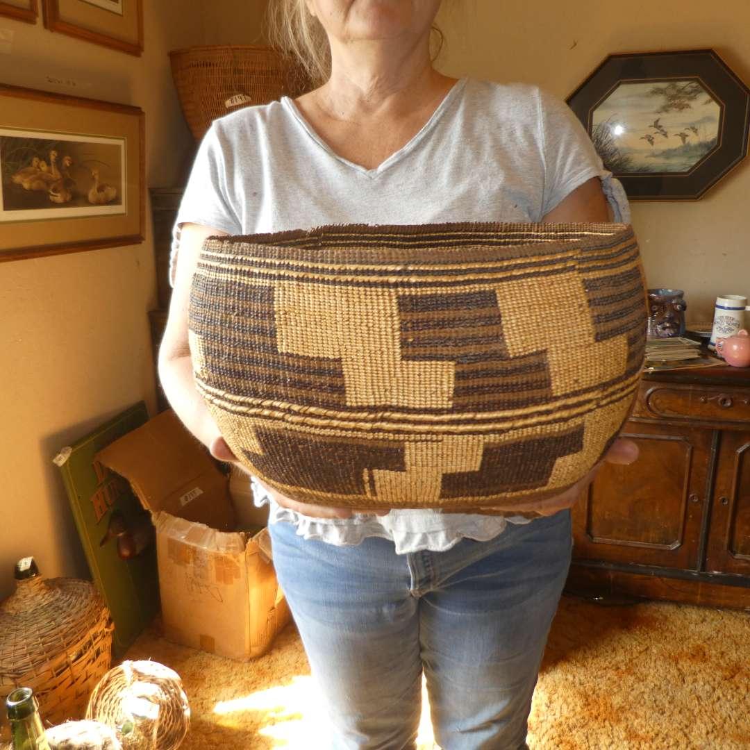 Lot # 198 - Large Local Northern California Native American Basket  (main image)