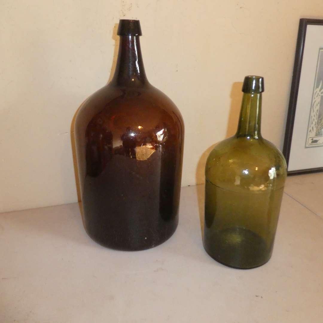 Lot # 201 - Two Antique Demijohns (main image)