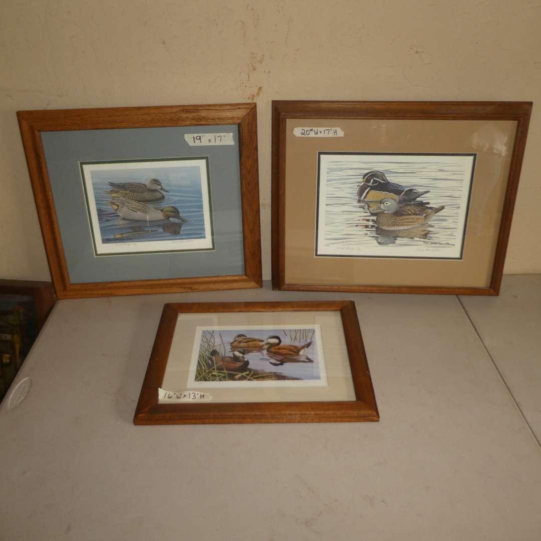 Lot # 204 - Three Duck Prints (Two Steele Roberts Ross Artist Proof) (main image)