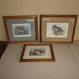 Lot # 204 - Three Duck Prints (Two Steele Roberts Ross Artist Proof)