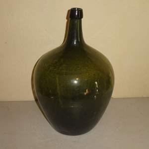Lot # 202 - Antique Demijohn (3 Piece Mold, Applied Top)