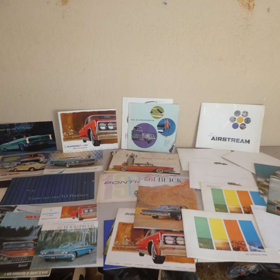 Lot # 222 - Fabulous Vintage Auto and Airstream Brochures  (main image)