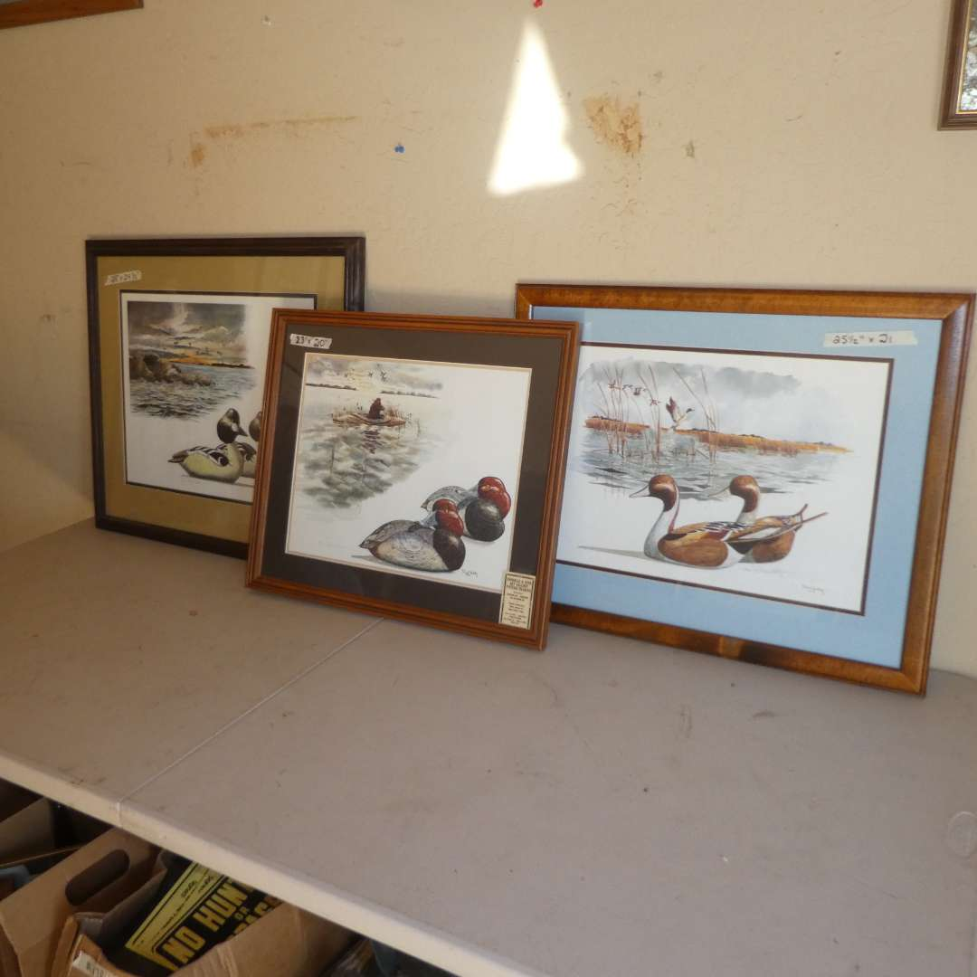 Lot # 225 - Three Duck Prints by Robert W Hilty (main image)