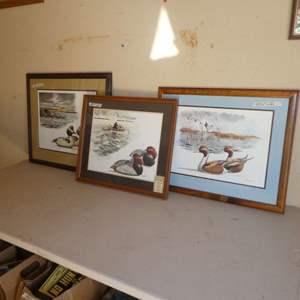 Lot # 225 - Three Duck Prints by Robert W Hilty