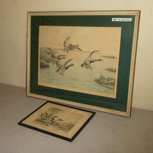Lot # 226 - Fred MeCaleb Print & Sidney Z. Lucas Print