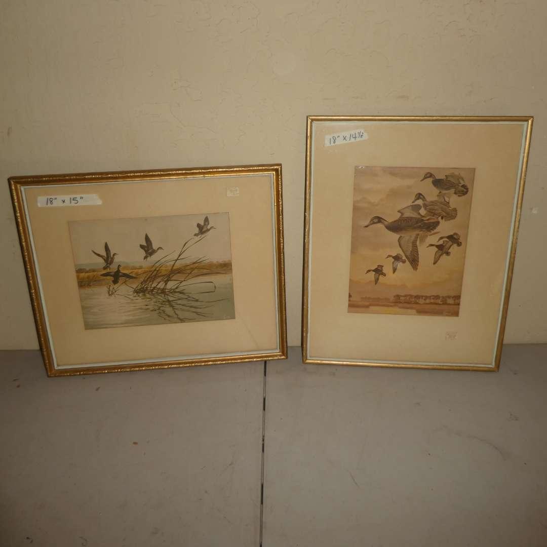 Lot # 227 - Two Framed Bird Scene Prints  (main image)