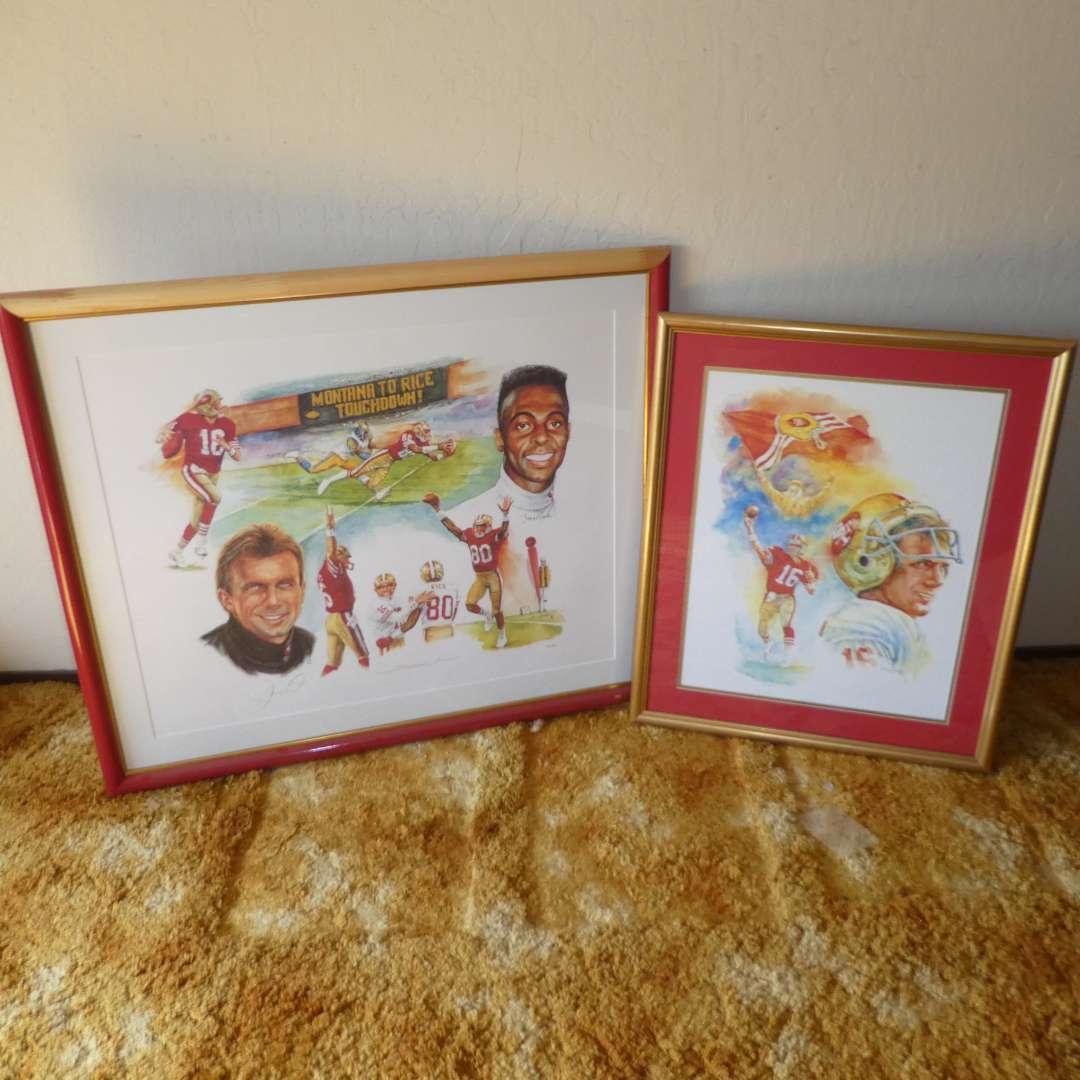 """Lot # 232 -  49ers  """"Jerry Rice & Joe Montana Autographed""""  (main image)"""