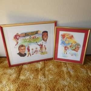 """Lot # 232 -  49ers  """"Jerry Rice & Joe Montana Autographed"""""""