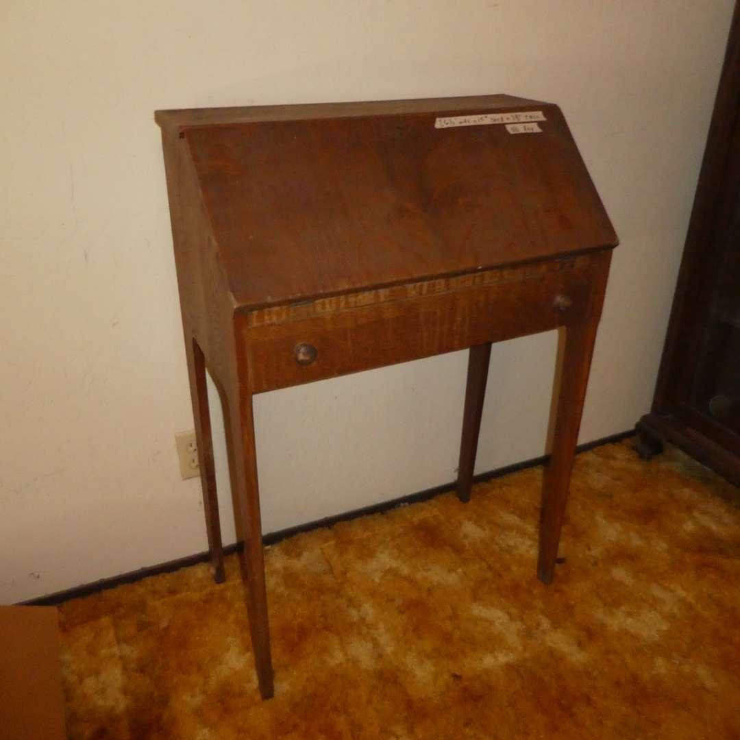 Lot # 235 - Antique/ Vintage Schoolmaster's Desk (main image)